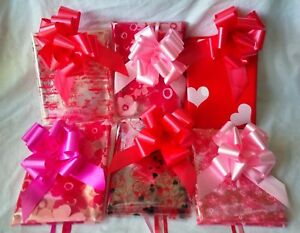 2M Cellophane Wrap  &  50MM  Pull Bow. Mothers day-Birthday Wedding- Anniversary