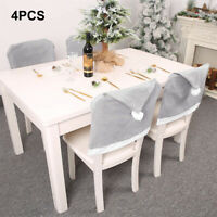 4Pcs Christmas Decoration Chair Covers Dining Seat Santa Claus Home Party Decor
