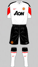 Mens Football Shirt & Shorts Kit - Manchester United - Away 2010 - Nike - L