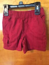 NWT, Infant Boys, Children's Place, Red Shorts, Adjustable Waist, 12-18 Months