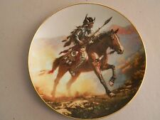 Mystic Warrior Collector Plate- Spirit of the Plains - By Chuck Ren- 1992