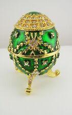Jay Strongwater Enameled and Crystal Decorative Egg Keepsake Box (w/gift box)