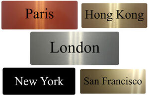 Personalised Time Zone Town Metal Aluminium Sign House Office Plaque 20x7.5cm