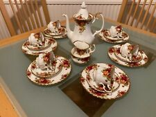 More details for royal albert old country roses 21 piece coffee set. immaculate condition.