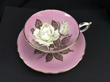 Vintage Paragon Double Warrant Pink Ivory Rose Tea Cup & Saucer A277