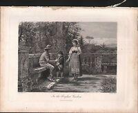 C1880 Viktorianisch Aufdruck ~ IN The Borghese Gärten G.G.Kilburne