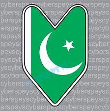 Pakistan Flag JDM Design Car Vinyl Decals/Stickers
