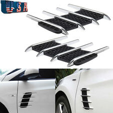Sporty Car Door Side Fender Decal Air Net Auto Intake Grille Front Hood Sticker