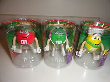 NEW Lot of 3 M&M Bendable Body Characters Figures 2004 NIP