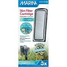 Marina Bio Carb Cartridge Slim Filter 3x Pack Tropical Fish Aquarium Clear Tank