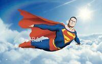 SUPERMAN In The CLOUDS PRINT Alex Ross art