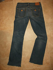 True Religion Becky 30 Flap Pocket Bootcut Low Rise Distressed Denim Jeans