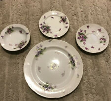 Rossetti Spring Violets Occupied Japan Dinner Salad Plate 1945-1952 Hand Painted