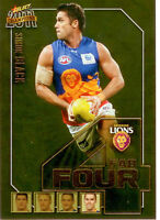 2011 Select AFL Champions Fab Four Gold Card FFG8 Simon Black (Brisbane)