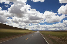 PHOTO LONG VALLEY ROAD CLOUDY DAY GIANT POSTER WALL ART PRINT LLF0050