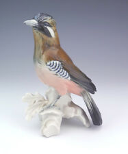 VINTAGE Karl Ens-Volkstedt-Hand painted jay bird Figura-molto bello!