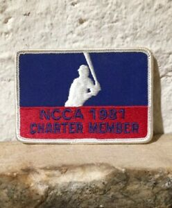 1981 NCCA CHARTER MEMBER BASEBALL PATCH SEE SCAN Unused