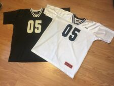 Vtg Rare Fubu The Collection Football Lot of (2) Black White Jerseys