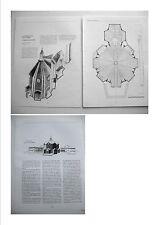 stampa ritaglio progetto architettura CALTAGIRONE CHIESA SACRA FAMIGLIA  1992