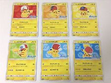 Japanese Pokemon Card Ash's Pikachu Complete Set 071 to 076 Satoshi SM-P Promo