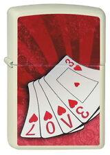 ZIPPO Feuerzeug LOVE CARDS White matte Spielkarten Karten Herz NEU OVP