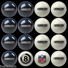 NFL Pool ball set - San Diego Chargers Home and Away!!  FREE US SHIPPING