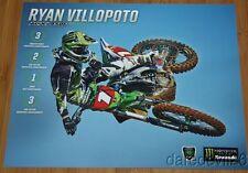 2014 Ryan Villopoto Monster Kawasaki KX450F AMA Supercross postcard
