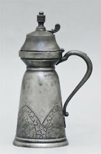 Antique English 19C c1870 Aesthetic Movement Ornamented Jug Derby Silver Co. H8""