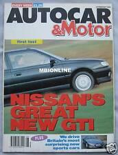Autocar 19/2/1992 featuring AC Ace, Subaru Legacy Turbo, Nissan Sunny GTi