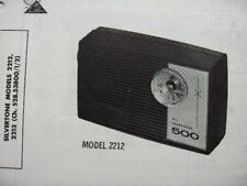 SILVERTONE 500,  2212 & 2213 TRANSISTOR RADIO PHOTOFACT