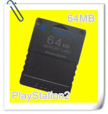SONY PS2 PLAYSTATION 2 MEMORY CARD 64MB black compatible third party