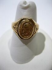 Antique Vintage 10K Yellow Gold 1929 John Marshall High School Ring Size 5.75