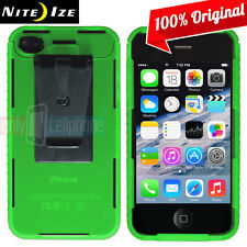 NEW Nite Ize Transparent Green Case Cover w/ Removable Belt Clip for iPhone 4S 4