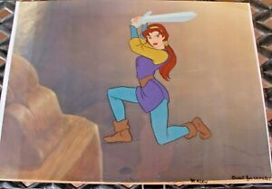 """Great Lot of 2 Model Cels from Warner Bros """"Quest For Camelot"""" circa 1998"""