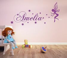Fairy & Stars Personalised Name Wall Art Mural Decal Sticker