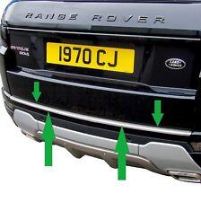 Acier Inoxydable Arrière Protection Pare-chocs étape Cover Trim For Range Rover font