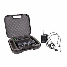 New SoundArt Dual Channel Lapel/Headset Wireless Microphone Set with Case