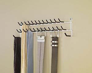 Belt Rack Tie Holder Door Wall Mount Closet Organizer Scarf Necklace Hanger NEW
