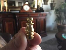 "Brass Lamp Finial Toppers Small 1"" New Fits Standard 1/4"" Harp"