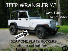 JEEP YJ Wrangler Diamond plate Rocker Panels no cut outs with / 90° 1 inch BEND