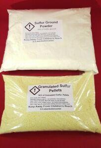 Sulphur Powder or Granulated 100g - 1.8kg