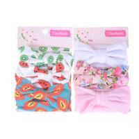 3pcs/lot Baby Headband Cotton Bow Kids Girls Headwear Hair Accessories Gift DS