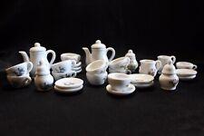 30pc Dollhouse Miniature Dinnerware porcelain Coffee Tea Set Pot Cup Dish 1:12
