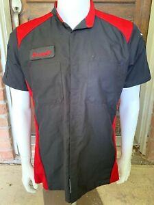 Red Kap Work Shirt Auto Mechanic Technician Uniform 2 Pockets Toyota Sz: SM