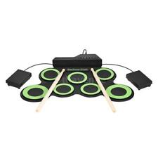 Portable Digital Electronic Roll Up Drum Kit + 3.5mm Audio Cable J6P3