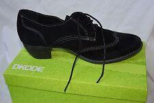 DKODE. Magnifiques chaussures lacets cuir derbies richelieus noir. T41