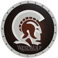 Round Greek TROJAN WARRIOR SHIELD -- sca/larp/helmet/wooden/painting/armor