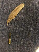 Leaf Bronze Lapel Pin Metal Women Men Cloth Brooch pin Wedding suit pin Jewelry