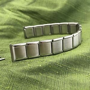 rare 17mm Mido HC Long Swiss Stainless Steel 1960s 1970s Vintage Watch Band