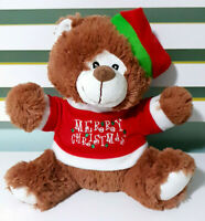 Baby Biz Merry Christmas Teddy Bear Plush Toy Children's Xmas Toy 27cm Tall!